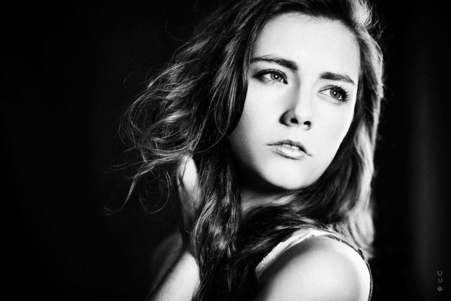 Photographie studio Toulouse portrait noir et blanc